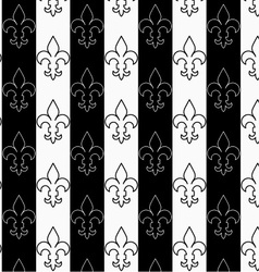 Black and white alternating Fleur-de-lis vertical vector