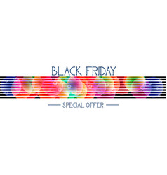 black friday special offer horizontal banner over vector image