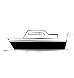 Boat vector image