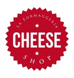 Cheese Shop vintage stamp vector