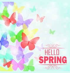 colorful butterflies background vector image