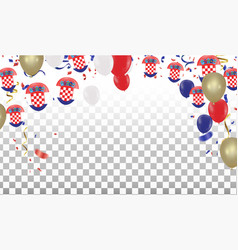 Croatian balloons with countries flags of vector