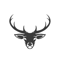 Deer Head Silhouette Isolated On White Background vector