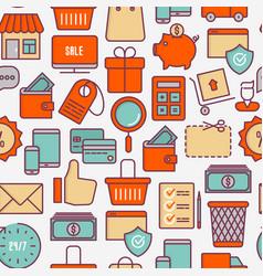 e-commerce shopping seamless pattern vector image