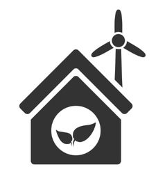 Eco House Building Flat Icon vector