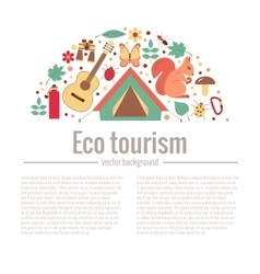 Ecotourism camping poster vector image