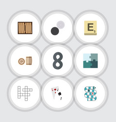 Flat icon play set of lottery mahjong vector