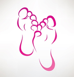 foot vector image