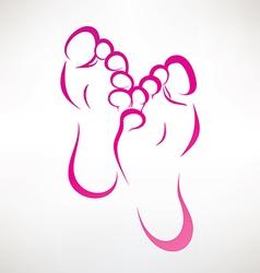 Foot vector