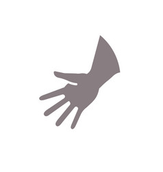 friendly hand gesture minimalistic styling gray vector image