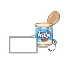 Funny condensed milk cartoon character design vector