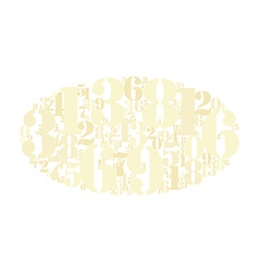 Gold numbers cloud background vector