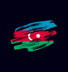 Grunge textured azerbaijani flag vector