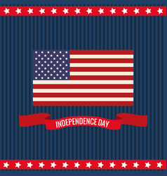 independence day flag united states vector image