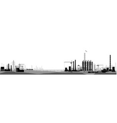 industrial or factory landscape horizontal wide vector image