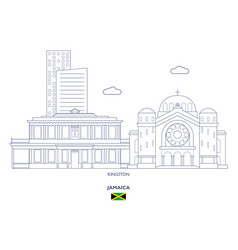 Kingston city skyline vector