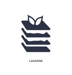 Lasagne icon on white background simple element vector
