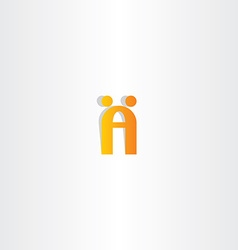 Letter a logo people dancing vector