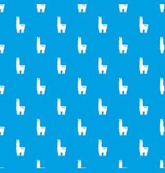 llama pattern seamless blue vector image