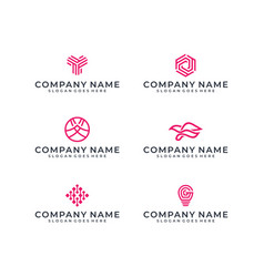 logo bundle inspiration vector image
