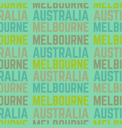 melbourne australia seamless pattern vector image