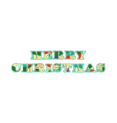 Merry christmas concept word art vector