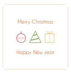 modern simple design christmas card vector image
