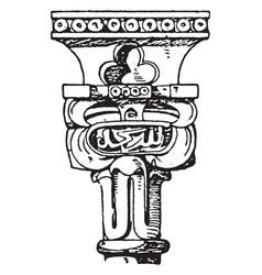 moorish capital the upper termination design vector image
