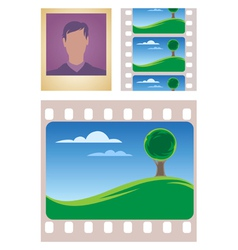 Photo and movie frames vector