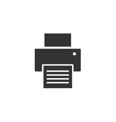 printer graphic icon design template vector image