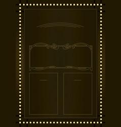 prohibition era background and frame design vector image