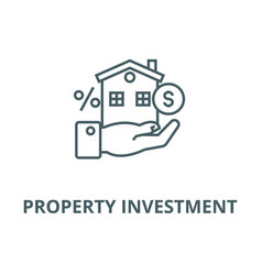 Property investment line icon linear vector