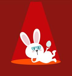 rabbit logo design vector image