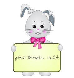 Rabbit with the poster vector