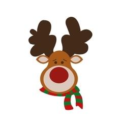 reindeer merry christmas cartoon icon vector image
