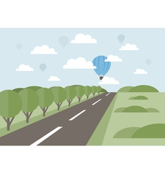 Road into the distance vector