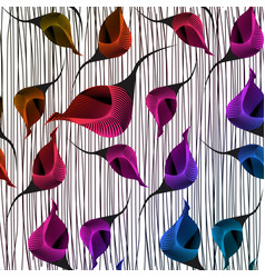 Seamless african wax print fabric ethnic design vector