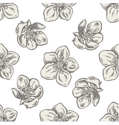 seamless pattern with hand drawn pastel strawberry vector image