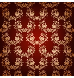 seamless with vintage damask ornament vector image