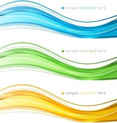 Set color curve lines design element vector