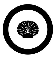 Shell black icon in circle vector
