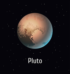 Solar system object pluto on vector