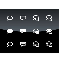 Speech bubble icons on black background vector image