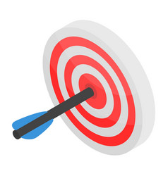 Sport arch target icon isometric style vector