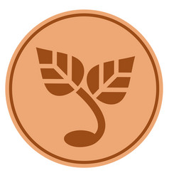 sprout bronze coin vector image