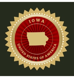 Star label Iowa vector