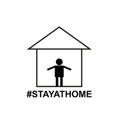 stay at home icon vector image