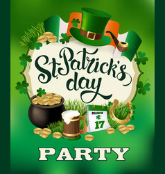 stpatricks day poster vector image