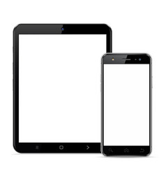 tablet computer and smartphone template vector image