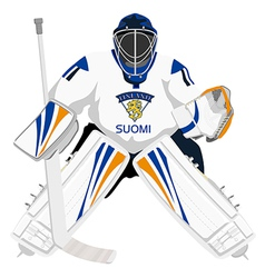 Team finland hockey goalie vector